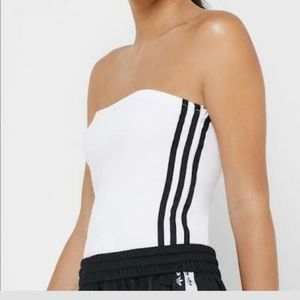 New! Adidas Strapless Bandeau Tube Top